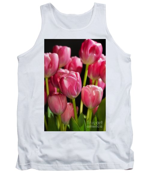 A Bouquet Of Pink Tulips Tank Top