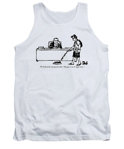 A Businessman Is Speaking On The Phone Tank Top