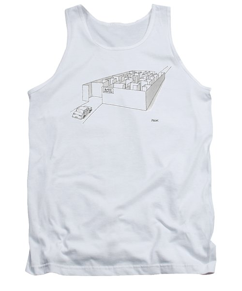 A Car Is Entering A Maze Labeled Tank Top