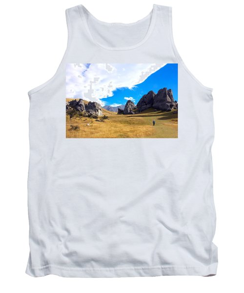 A Castle Hill Walk Tank Top by Stuart Litoff