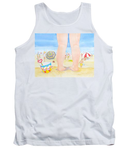 Tank Top featuring the painting A Child Remembers The Beach by Michele Myers
