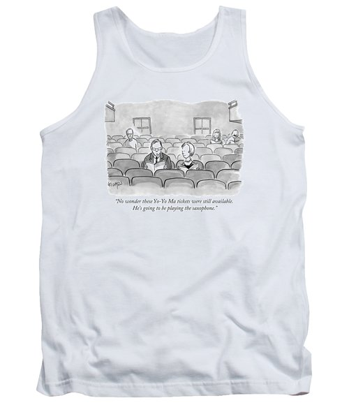 A Couple Sits Reading A Playbill Tank Top