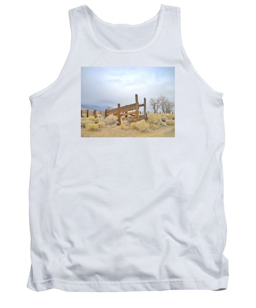 Tank Top featuring the photograph A Cowboys Echo by Marilyn Diaz