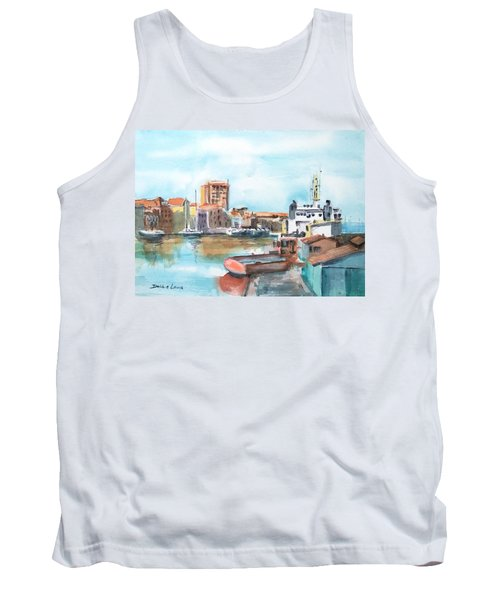 A Curacao Morning Tank Top by Debbie Lewis