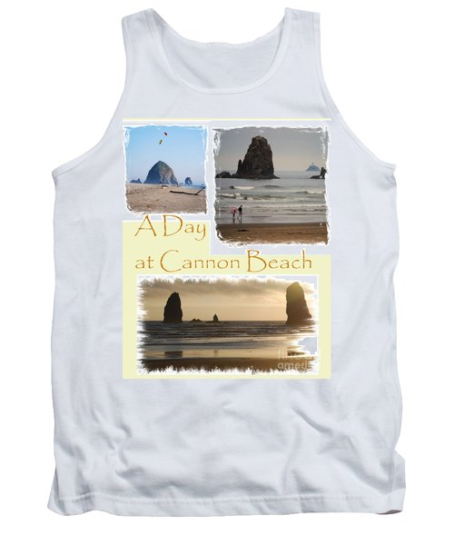 A Day On Cannon Beach Tank Top by Sharon Elliott