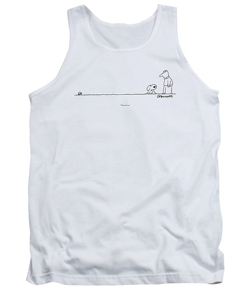 A Dog Speaks To A Man Tank Top