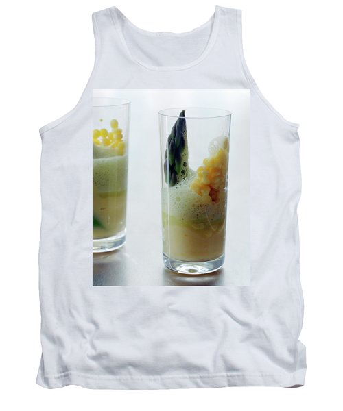 A Drink With Asparagus Tank Top by Romulo Yanes