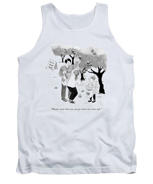 A Family Picks Apples Right From The Tree Tank Top