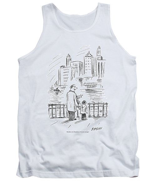 A Father And Son In Brooklyn Look Tank Top
