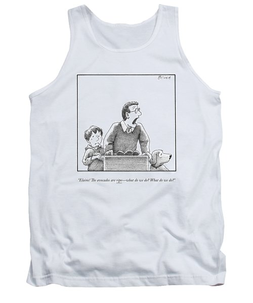 A Father, Son, And Dog All Worry At The Sight Tank Top