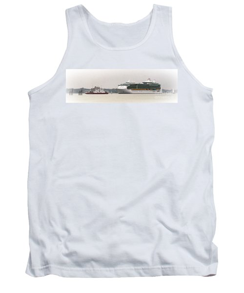 A Ferry A Ship And Some Yachts Tank Top by Linsey Williams