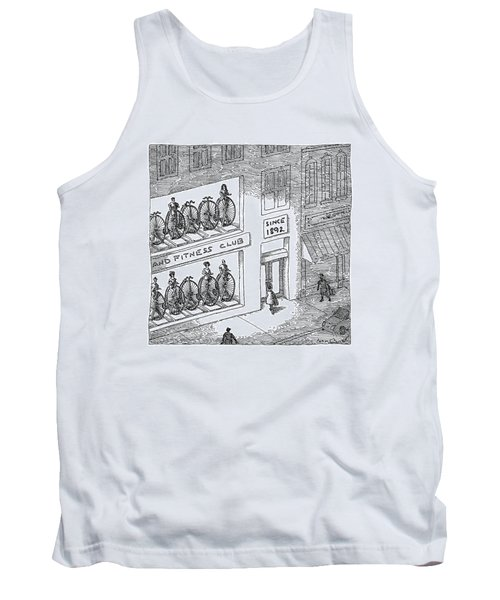 A Fitness Club With Sign Tank Top