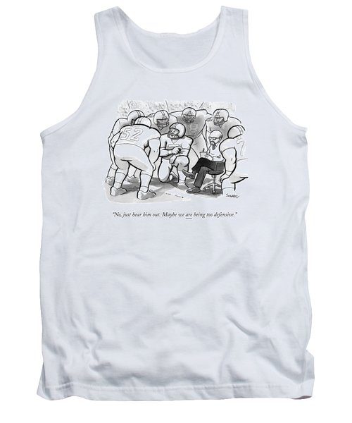 A Football Team Huddles Around A Therapist Tank Top