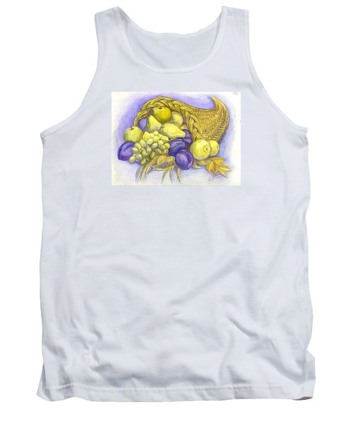 Tank Top featuring the painting A Fruitful Horn Of Plenty by Carol Wisniewski