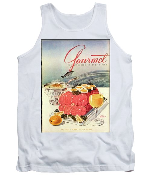 A Gourmet Cover Of Poached Salmon Tank Top