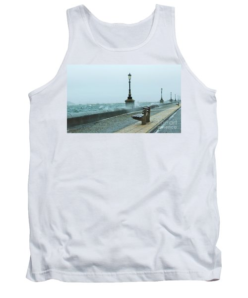 A Grey Wet Day By The Sea Tank Top