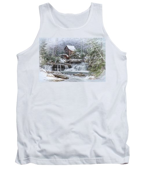 A Gristmill Christmas Tank Top by Mary Almond