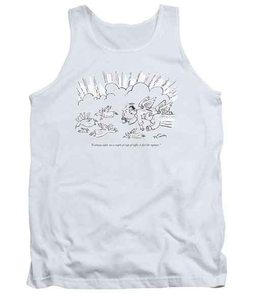 A Group Of Angels Fly In The Clouds.  One Tank Top