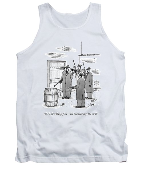 A Group Of Gangsters Stand With Machine Guns Tank Top
