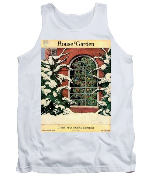 A House And Garden Cover Of A Christmas Tree Tank Top