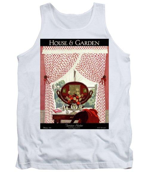 A House And Garden Cover Of A Mirror Tank Top