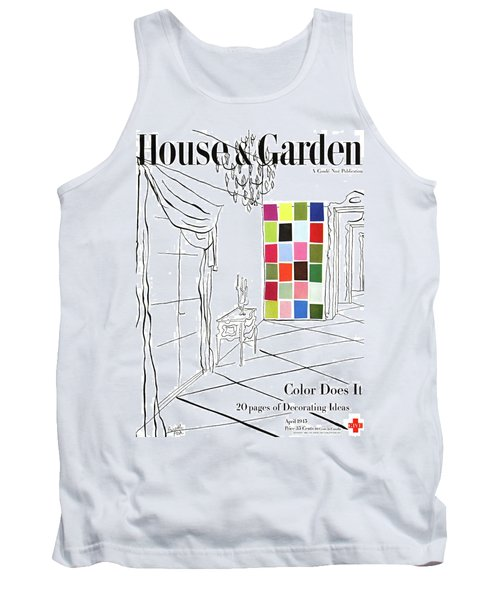 A House And Garden Cover Of Color Swatches Tank Top