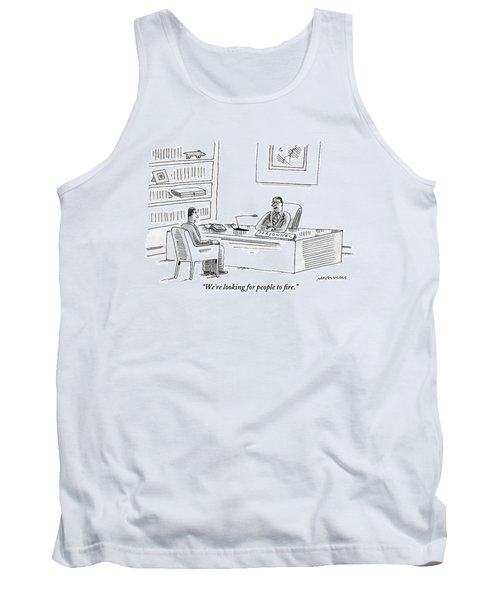 A Human Resources Office Worker Speaks To An Tank Top