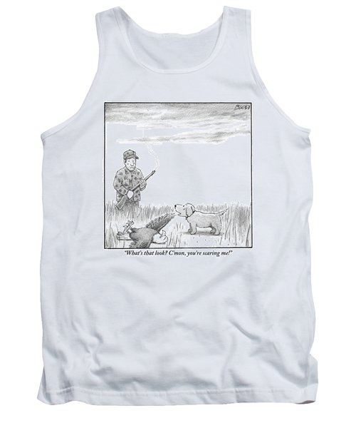 A Hunting Dog Addresses His Master Who Looks Tank Top