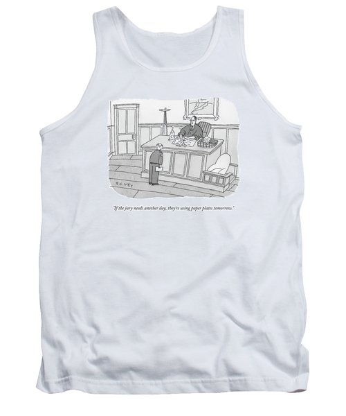 A Judge Washes Dishes In A Sink At His Desk Tank Top
