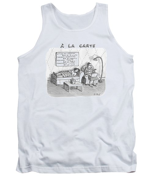 A La Carte -- Therapy Where A Placard Lists Tank Top