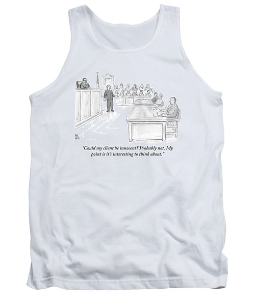 A Lawyer Makes His Case In Front Of A Jury Tank Top