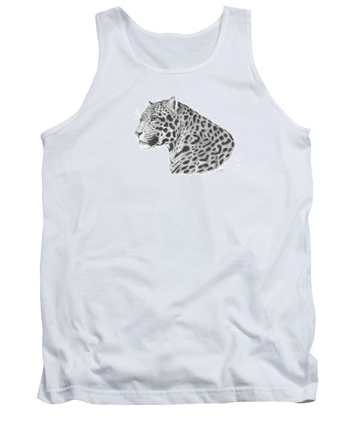 A Leopard's Watchful Eye Tank Top by Patricia Hiltz