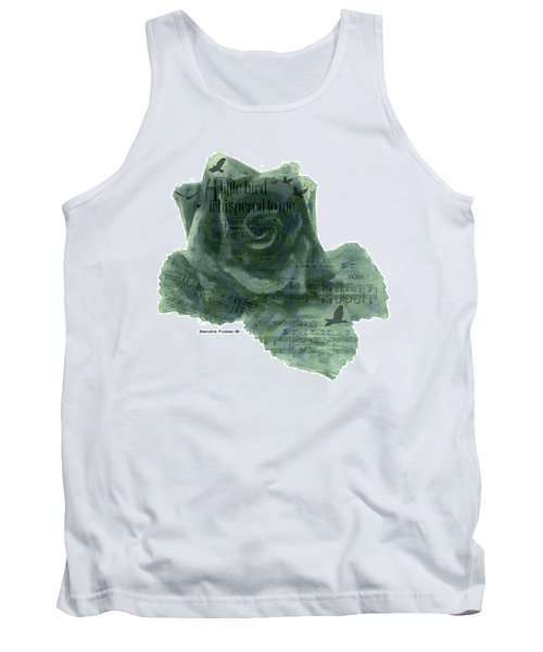 Tank Top featuring the photograph A Little Bird Whispered To Me Digital Rose  by Sandra Foster
