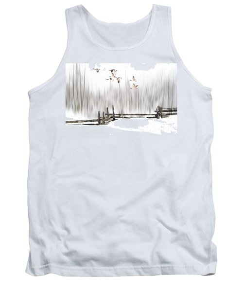 Tank Top featuring the photograph A Little Winter Magic by Andrea Kollo