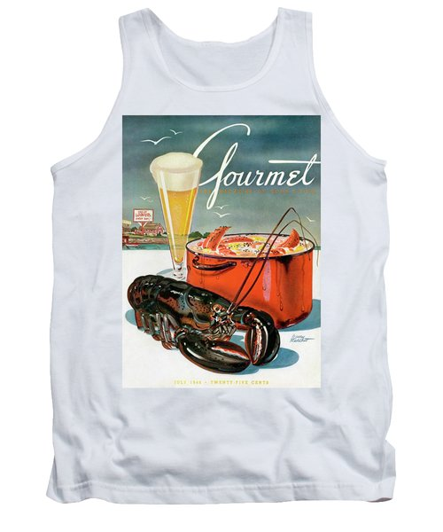 A Lobster And A Lobster Pot With Beer Tank Top by Henry Stahlhut