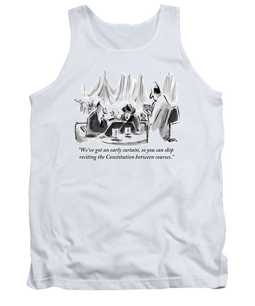 A Man And A Woman At A Pre-theater Dinner Taking Tank Top