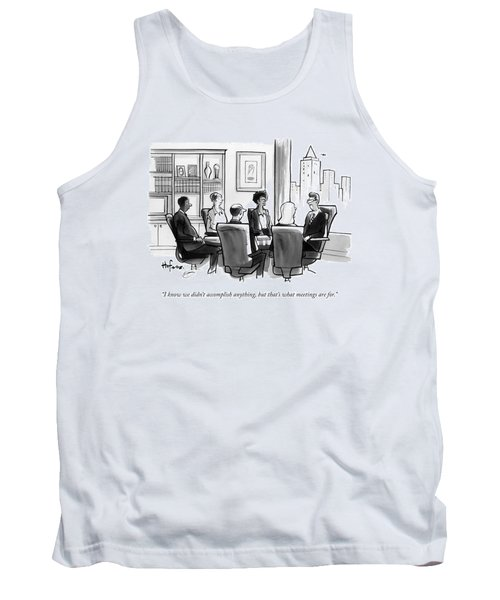 A Man Announces At A Business Conference Meeting Tank Top