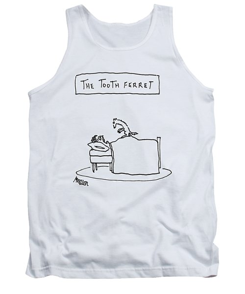 A Man Lies In Bed With A Ferret On Top Tank Top