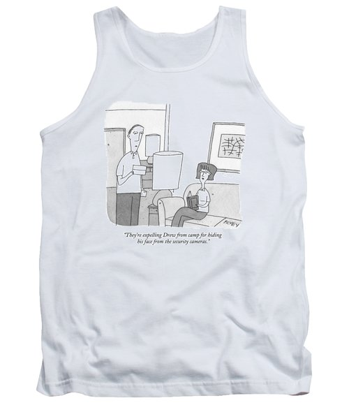 A Man Reads A Letter Aloud To His Wife Tank Top