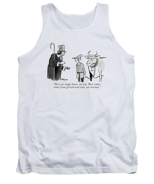 A Man Sells A Boy Leading A Cow  Beans -- Jack Tank Top