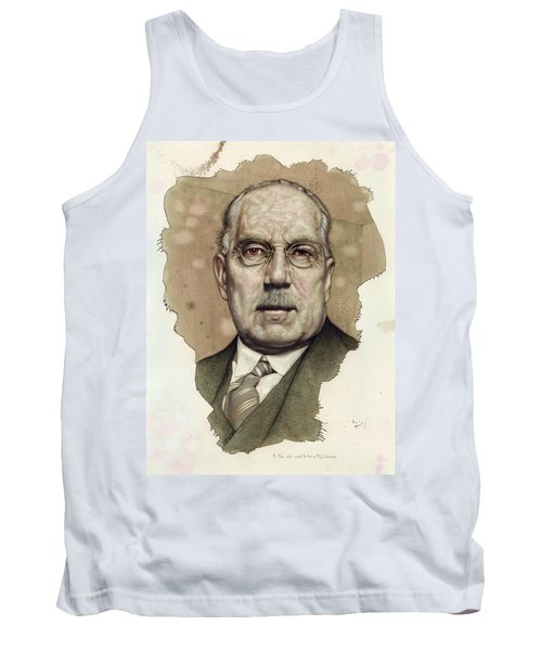 Tank Top featuring the painting A Man Who Used To Be A Big Cheese by James W Johnson