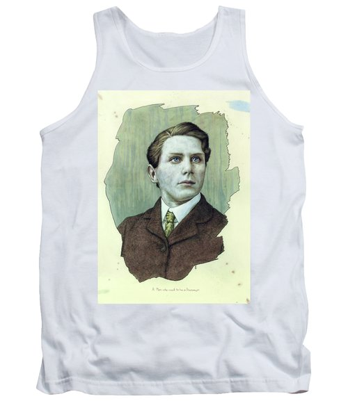 Tank Top featuring the painting A Man Who Used To Be A Dreamer by James W Johnson