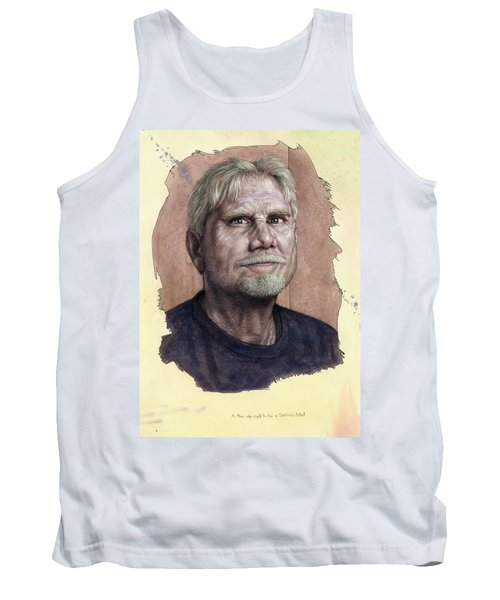 Tank Top featuring the painting A Man Who Used To Be A Serious Artist by James W Johnson