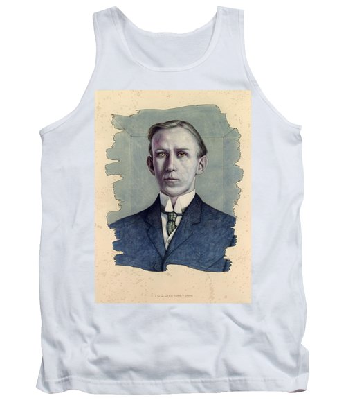Tank Top featuring the painting A Man Who Used To Be Somebody To Someone by James W Johnson