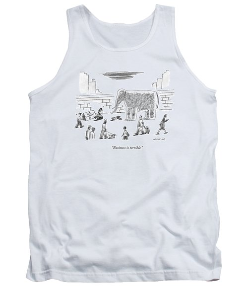 A Man With An Elephant Speaks On The Phone Tank Top