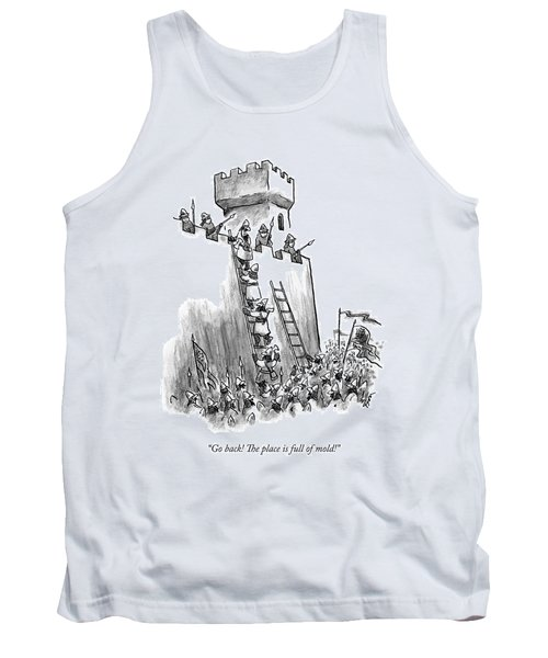 A Medieval Soldier Climbing A Ladder To The Top Tank Top