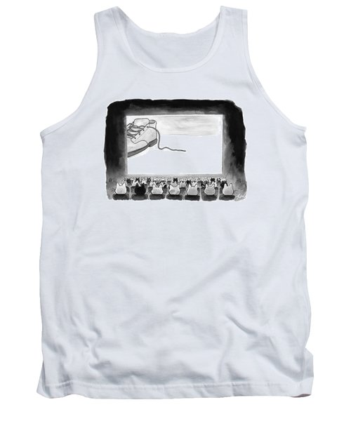 A Movie Theater Audience Of All Cats Watches Tank Top