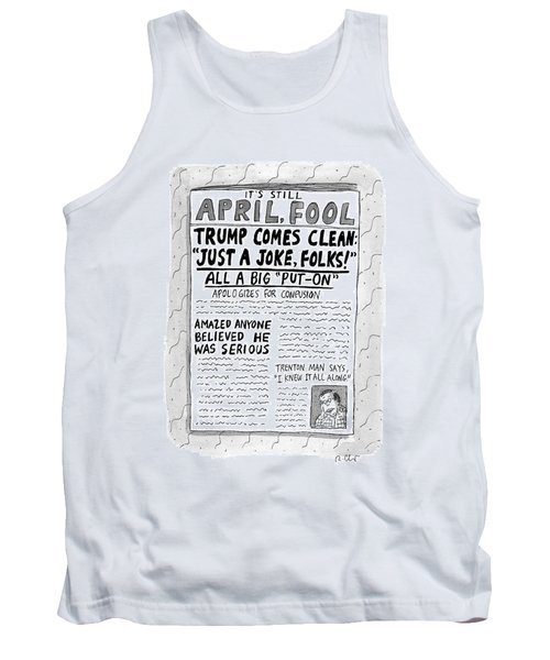 A Newspaper Front Page About Donald Trump's Tank Top