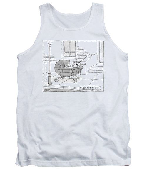 A Perambulator Containing A Crying Baby Picasso Tank Top