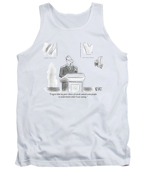 A Politician Speaks At A Podium Tank Top